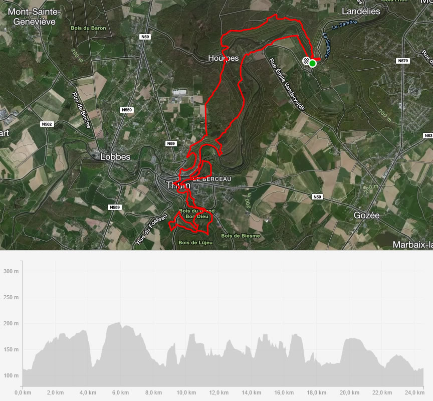 parcours 24km TAA